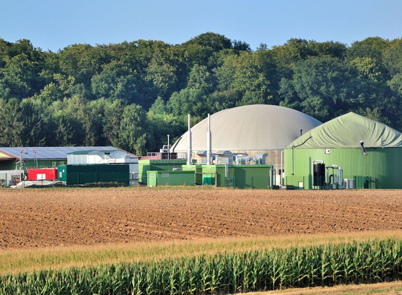 Anaerobic digester set in farmland