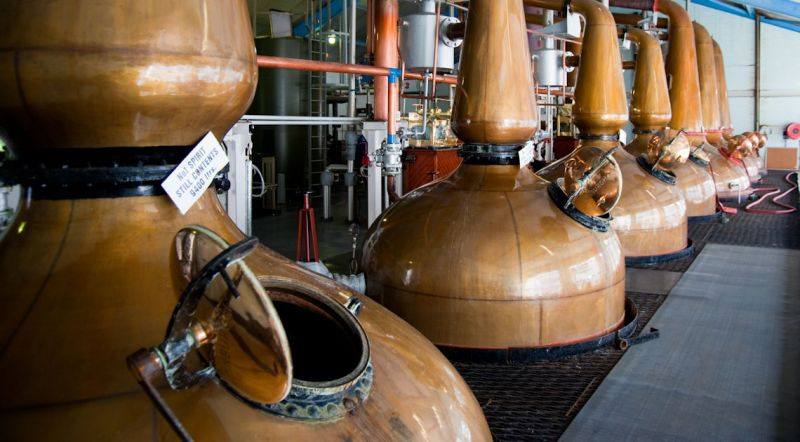 Copper whiskey stills