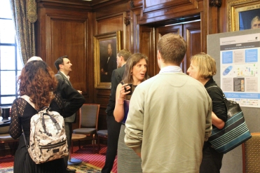 Devin Sapsford (INSPIRE) and Rachel Marshall (AVAnD) getting stuck into discussions during the break