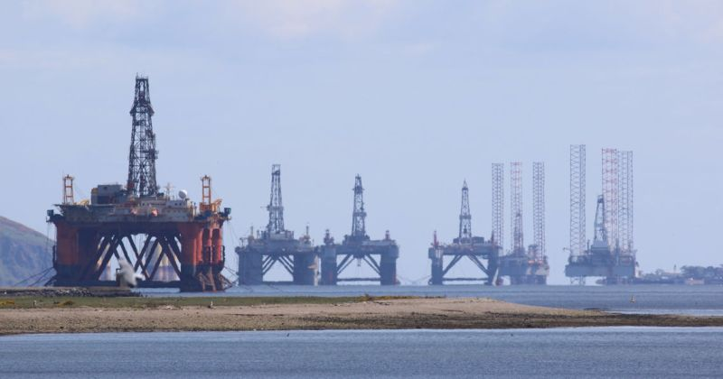 Oil rigs in Cromarty Firth, Scotland